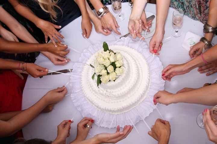 en la torta