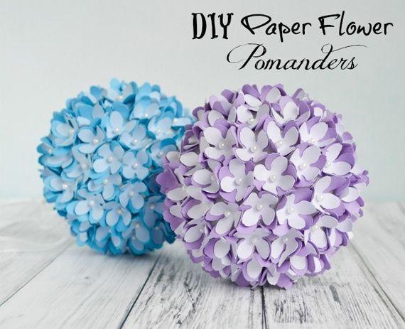 Bolas decorativas de flores de papel