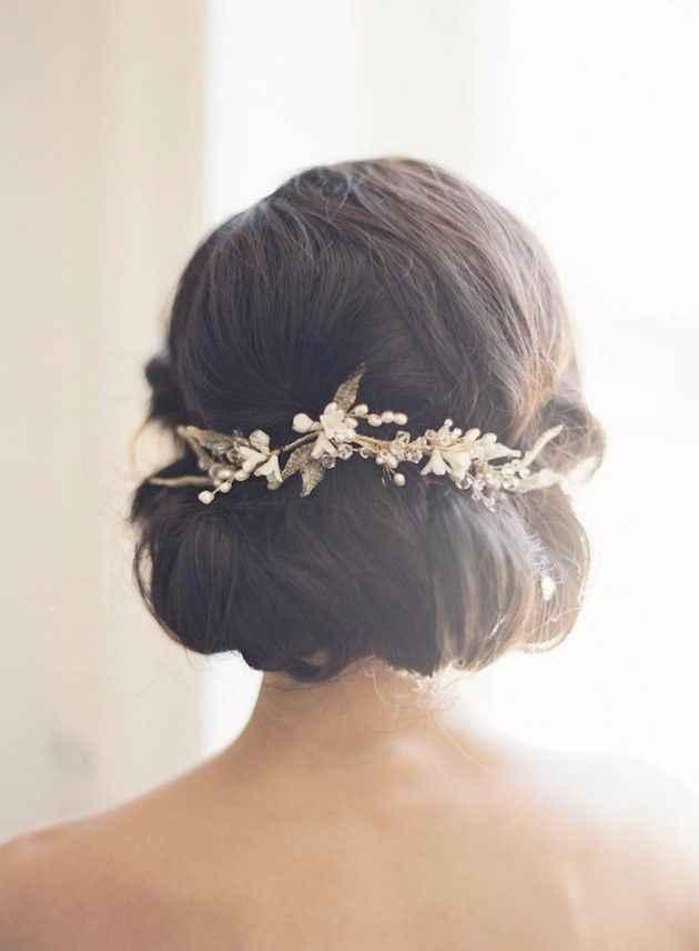 Peinados para novias que no quieren velo - 2