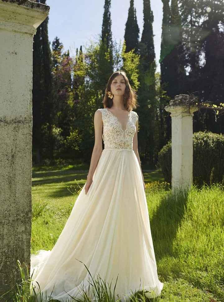 4 vestidos NO total white para novias - 2