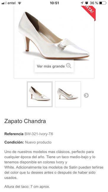 Necesito encontrar zapatos de novia - 1