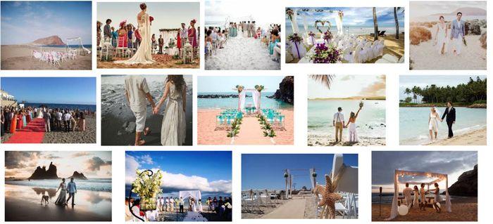 Boda playera en islas canarias Inspiraciones de bodas playeras 2 83346360ff62a