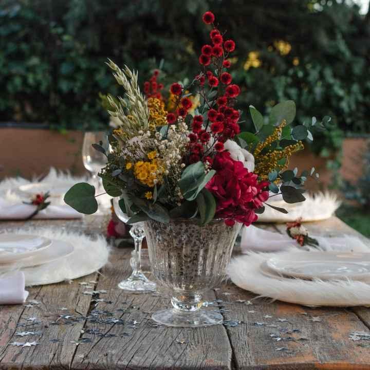 Centro de mesa - flores preservadas