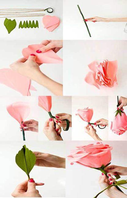12 ideas para hacer flores de papel para decorar 💐 2