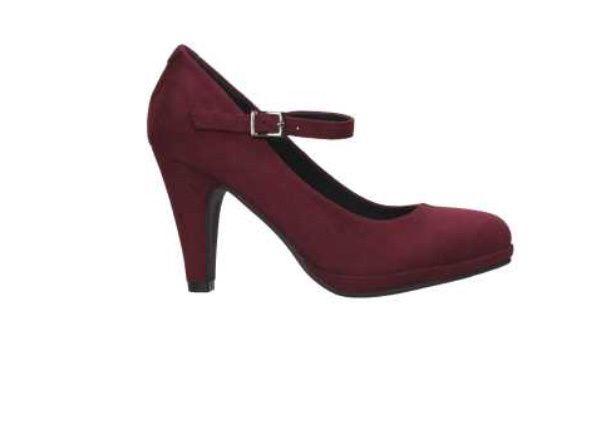 zapatos color vino/burdeo