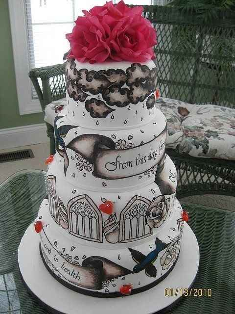 Habian visto tortas con tatuajes??.. - 2