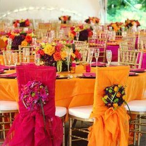 colores de  en las mesas