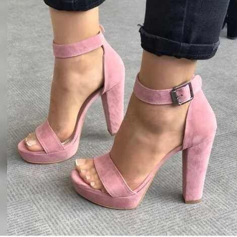Zapatos rosa palo 1