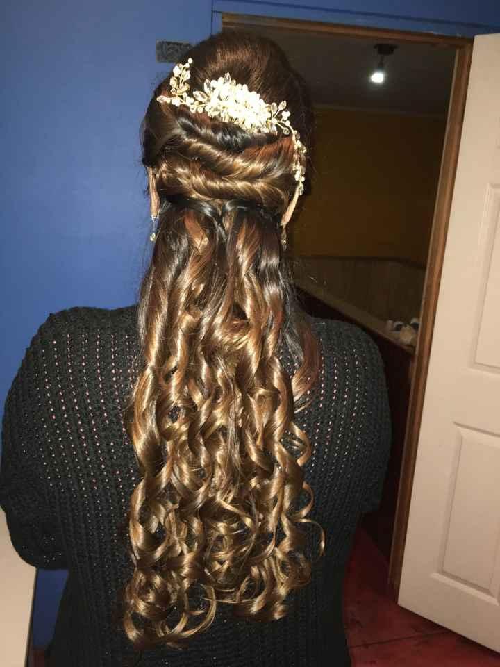 Mi prueba de peinado y maquillaje - 1