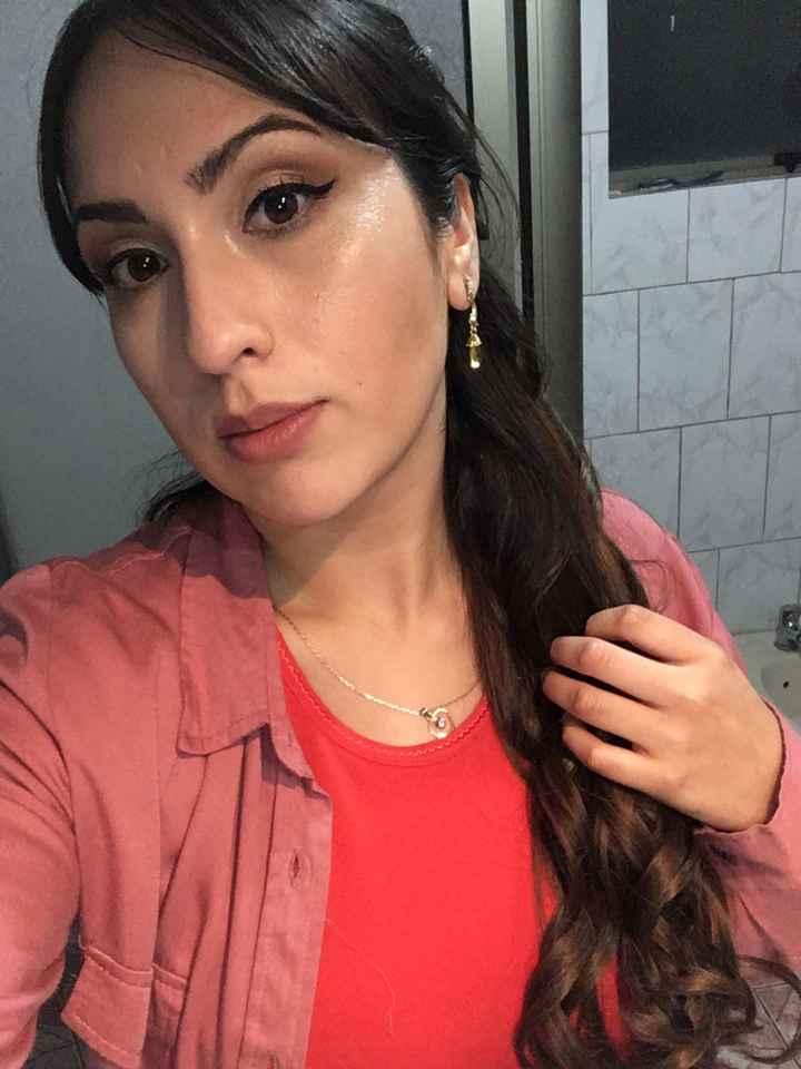 Mi prueba de peinado y maquillaje - 3