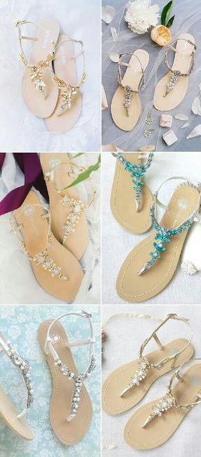 sandalias para boda en la playa 😊