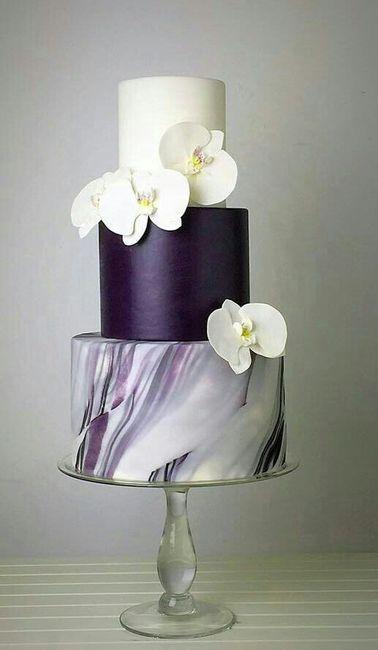 Tortas con efecto mármol o marmoladas 🍰 1