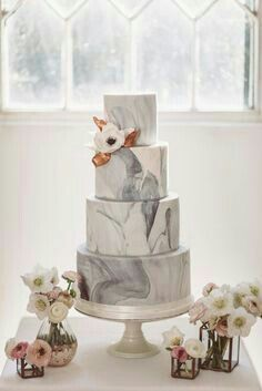 Tortas con efecto mármol o marmoladas 🍰 2