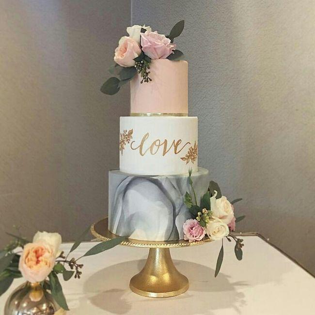 Tortas con efecto mármol o marmoladas 🍰 3