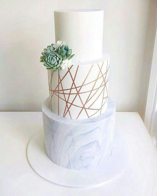 Tortas con efecto mármol o marmoladas 🍰 4