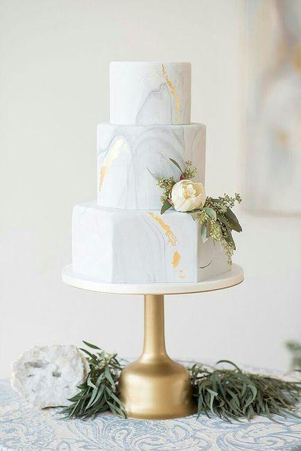 Tortas con efecto mármol o marmoladas 🍰 7