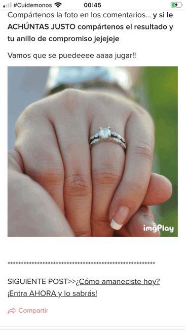 Achúntale al anillo y...¡compártenos el TUYO!💍 2