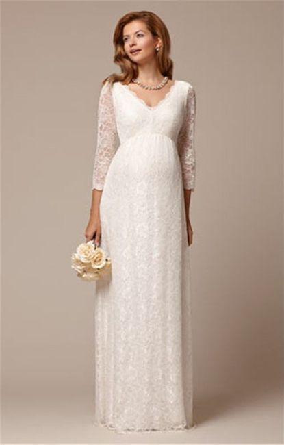 ebc1cd7ef Opción 5 10 Vestidos para novias embarazadas 5
