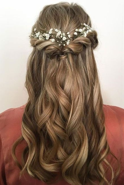 Peinados con flores naturales 1