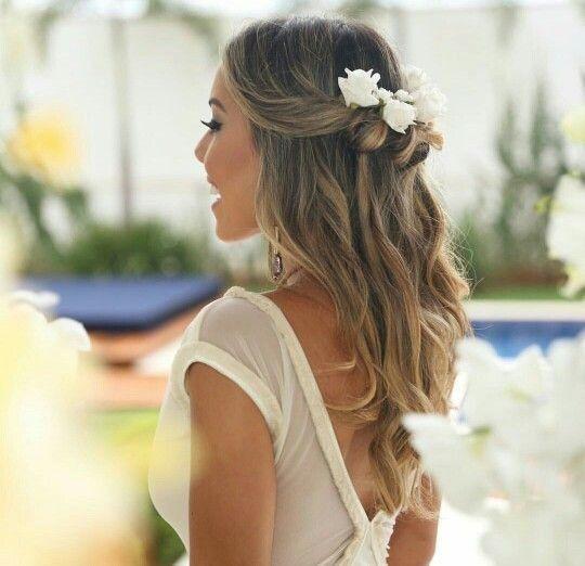 Peinados con flores naturales 3