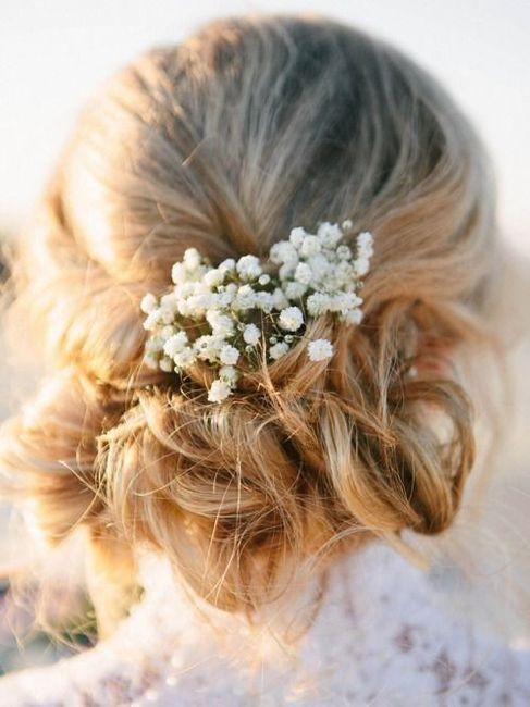 Peinados con flores naturales 4