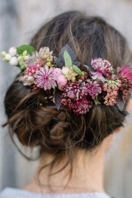Peinados con flores naturales 5