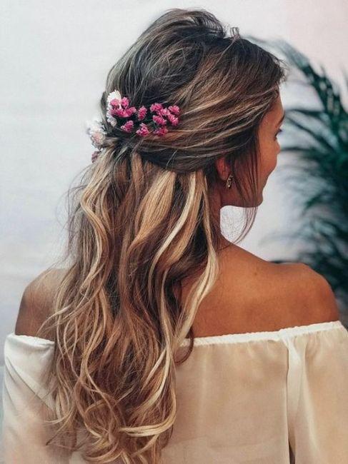 Peinados con flores naturales 6