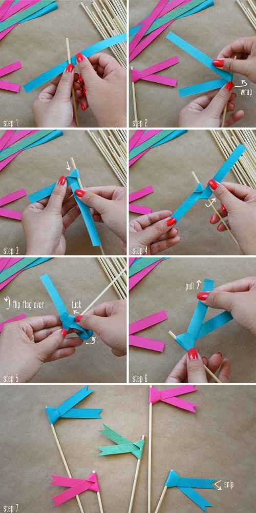 DIY banderines de papel