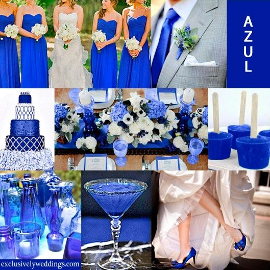 Matrimonio en color azul