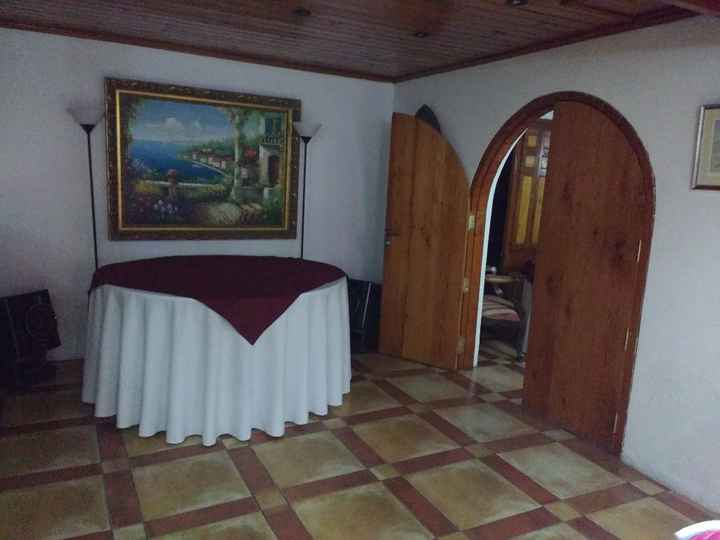 Salón solo para los novios- Las Secoyas