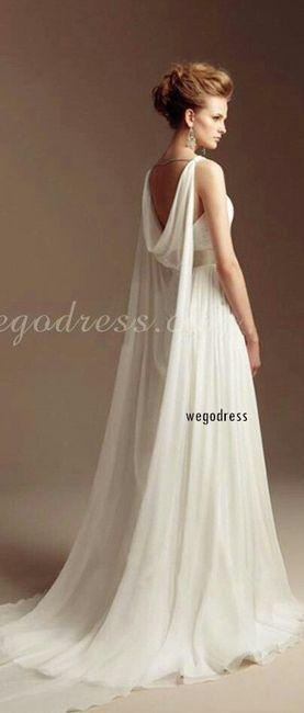Vestido de novia con alas