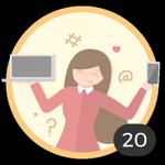 Blogger (20). ¡Ya creaste 20 debates! Internet es tu medio para compartir ideas y dudas con los demás. Presume con esta medalla de ser una auténtica bloggera.