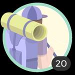 Aventurera (20). Tu espíritu aventurero no conoce límites. Has participado en 20 debates así que ya puedes lucir esta bonita insignia.
