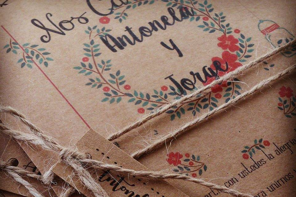 Isacolors Scrapbook Invitaciones