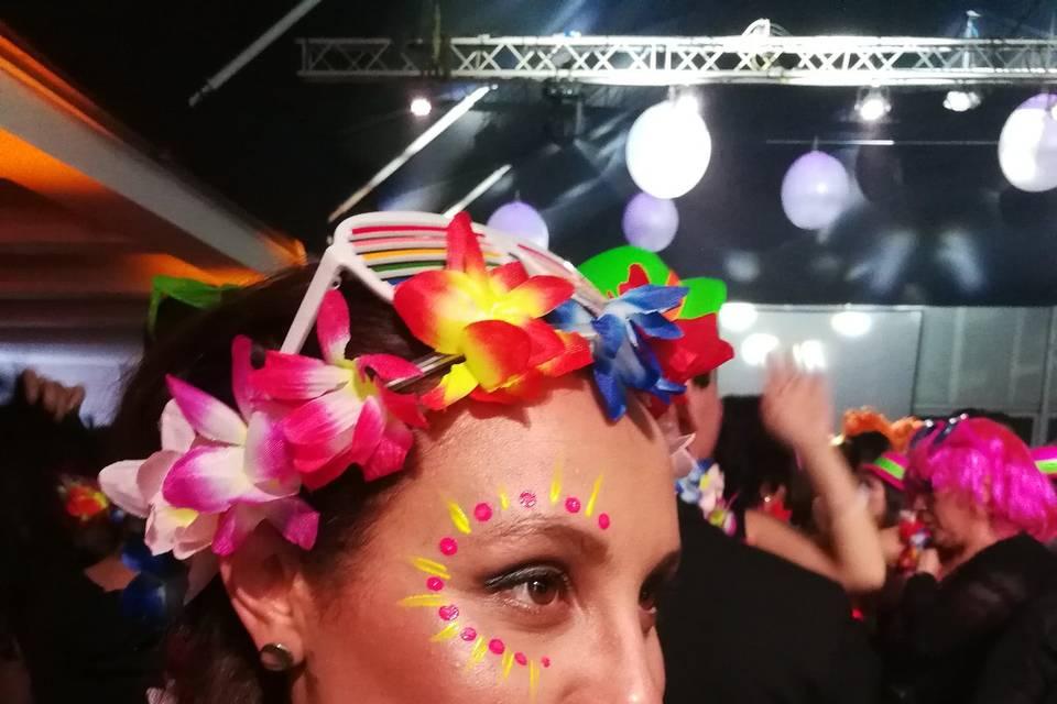 Maquillaje fluor evento