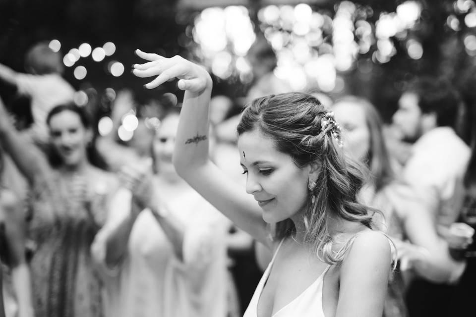 La novia en su fiesta