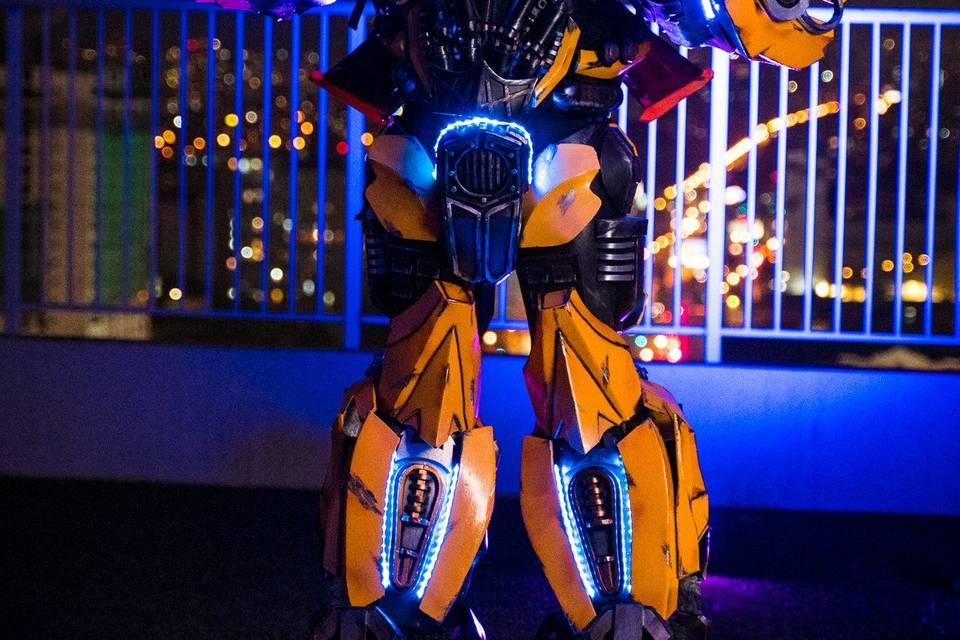 Bumblebee Robot Led